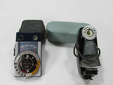 VINTAGE POPULAR EARLY FAN FLASH FOR BULBS & DELUXE STITZ CDS METER LIGHT FINDER