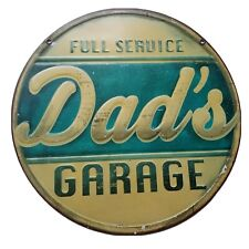 Metal Decorative Sign Bundle - Dad's Garage and Tool Rules. Used Condition....