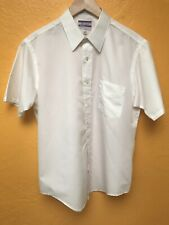 Vtg 60s Jcpenney Satin Touch Single Needle Short Sleeve Button Shirt Sz 16 1/2