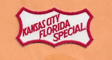 "KANSAS CITY FLORIDA SPECIAL  RAILROAD PATCH  4""  ***"