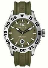NWT NAUTICA MEN'S DIVER WATCH WITH DATE DISPLAY 100M WATER RESISTANT A14618G NEW