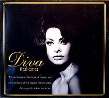 DIVA ITALIANA (Dolce Vita) P.PICCIONI,N.ROTA,MODUGNO,MINA,V.LISI,LOREN CD + Book