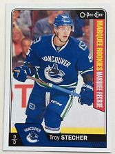 2016-17 TROY STECHER UD 2 O-PEE-CHEE UPDATE MARQUEE ROOKIE #702 CANUCKS