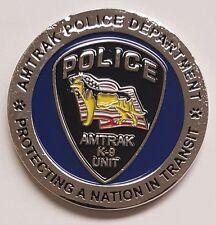 RAILROAD Amtrak Police Department K-9 K9 Canine Unit EOD Explosives Detection