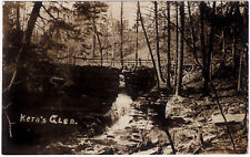 1910 RPPC Kern Kern's Glen PA Tunkhannock Lake Carey Wyoming REAL PHOTO Postcard