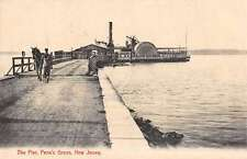 Penns Grove New Jersey Pier Waterfront Antique Postcard K45273