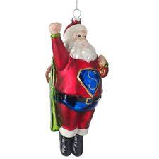 Superman santa en verre rouge arbre de Noël décoration Fun Ornement