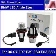 2PCs 12W 6000K HID White LED Angel Eyes Halo Ring Light Bulbs for BMW E39 Series