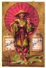 6 ENGLISH cards c1885 LIEBIG japonese  variant golden anual sale + print MORET