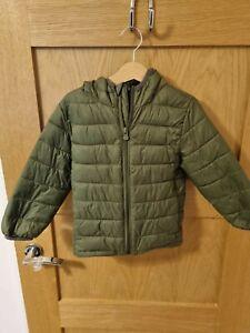 Baby GAP Green/Grey Dinosaur Coat age 4 primaloft