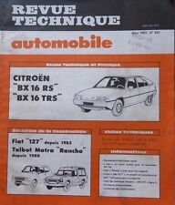 Revue technique CITROEN BX 16 RS TRS RTA 431 1983 + FIAT 127 TALBOT RANCHO MATRA