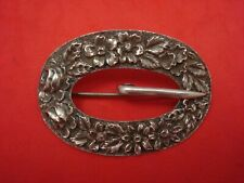 Repousse by Kirk Sterling Silver Belt Buckle
