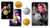 6 Medailles Touristiques Collection Johnny Hallyday 2019