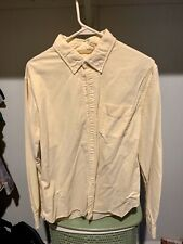 Mens Bonobos Large Slim Fit Washed Oxford Shirt Size L Solid Yellow $98 New