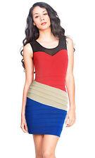 Women's Striped Stretch, Bodycon Above Knee, Mini Casual Dresses