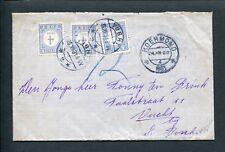 1931 ongefrankeerde envelop ROERMOND naar VUCHT; PORT 3x P 49, LB VUGHT