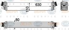 8ML 376 756-281 HELLA Ladeluftkühler Lader