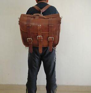 Attractive Leather Vintage Messenger Shoulder Satchel Briefcase Laptop bag