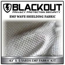 """EMF RF RFID FARADAY Cell Block Wave Shielding Fabric 43"""" X 5 Yards By BLACKOUT"""