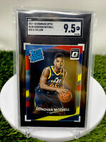 2017-18 Donruss Optic Red/Yellow Prizm #188 Donovan Mitchell RC SGC 9.5 COMP PSA