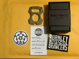 BRNLY Burnley Knives Cypop Brass Bucky Brawler .25 BRAND NEW Authentic