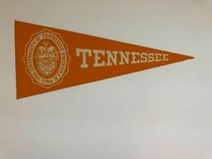 university of  TENNESSEE  - 1940s COLLEGE decal STICKER pennant / RARE