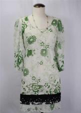 FEI ANTHROPOLOGIE Floral Sheer 3/4 Sleeves Scoop Neck Tie Back Dress Size XS