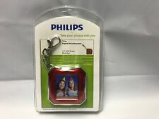"Phillips Digital Photo Keychain 1.5"" LCD 8 MB Rechargable Brick Red (NEW)"