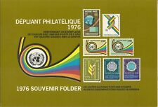 United Nations 1976 annual collection Folders with MHN Stamps. Ny,Geneva.