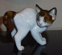 VINTAGE ROSENTHAL THEODOR KARNER DESIGN STANDING PORCELAIN CAT KITTEN FIGURINE