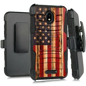 Holster Case For TCL A1 A501DL / Alcatel INSIGHT Phone Cover US FLAG FENCE