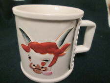 Cow with Horns Coffee Mug Cup Square Handle Enesco E-2231