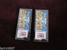 1995 Orlando Magic Commemorative NBA VIP Basketball Playoff Ticket SET of 2