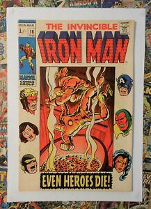 IRON MAN #18 - OCT 1969 - AVENGERS APPEARANCE - VFN (8.0) HIGH GRADE PENCE COPY!