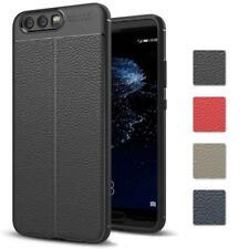 Huawei P10 Handy Hülle Schutzhülle Silikon Slim Case Leder Cover + Schutzglas 9H