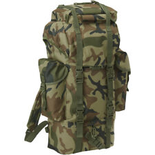 Brandit BW Combat Backpack Military Hunting 65L Tactical Rucksack Woodland Camo