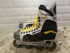 Nike Bauer Mega Pro Roller Hockey Senior Inline Skates Size 10 Shoe Black White