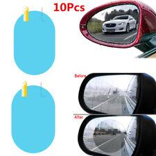 5 Pair Blue Oval Auto Car SUV Rearview Mirror Anti Fog Protective Film Rainproof