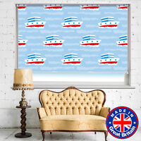 Boats Sea Nautical Printed Picture Window Roller Blind Cordless Remote Blackout