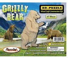 Holzbausatz Grizzly Bär - 3D Puzzle