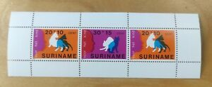 1978 Suriname Cats Kucing MNH 3v Miniature stamp MS