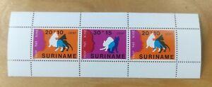 1978 Suriname Cats Kucing MNH 3v Miniature stamp MS