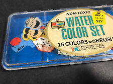 Vintage Peanuts Colorforms in an old Kmart Water Color Set Watercolor Paint
