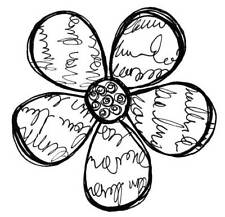 Large Scriptilicious Bloom Unmounted Rubber Stamp by Stamp Addicts