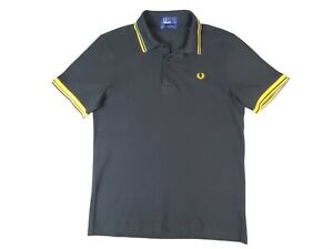 Fred Perry Men's Proud Discontinued Black S/S Polo Shirt Size - SMALL