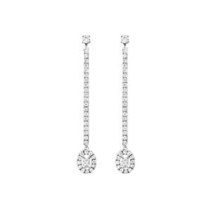 Messika Paris Glam'AZone White Gold Diamond Dangle Earrings 05627