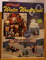 APR062 THE NEEDLECRAFT SHOP 1990, WINTER WONDERLAND ~ 9 PLASTIC CANVAS DESIGNS