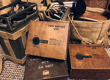 Reproduction Wireless Set No 38 Battery Box.  WWII British Army