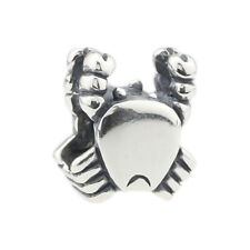 GUARANTEED Genuine .925 Sterling Authentic Silver Charm Crab