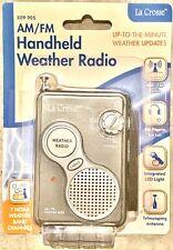 809-905 La Crosse AM/FM All 7 NOAA Weather Band Channels Handheld Weather Radio